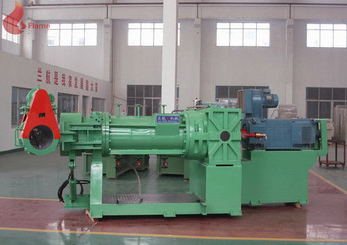 Green 132 Kw Rubber Strainer machine With Electrical Control Cabinet