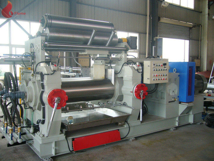 Bored Roll Rubber Two Rollers Mixing Mill , PVC Plastic rolling mill equipment