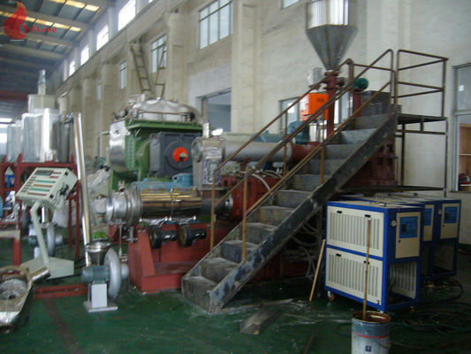 Multi - Screw PVC Plastic Pelletizing Machine + Single Screw Extruder Insulate With Good Foam