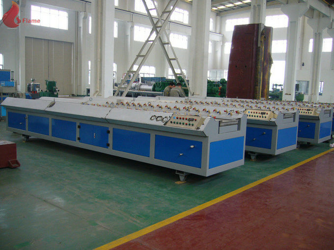 Plate wood plastic composite extrusion machine 55kw For PVC / PE / PP