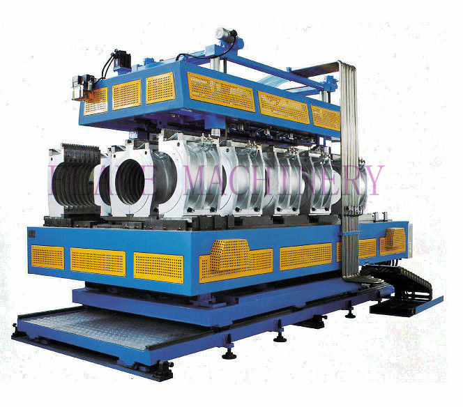 Double Wall corrugated pipe extrusion line Single / Twin Screw Extruder HDPE/PVC/PP
